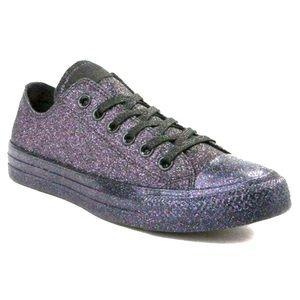 Converse NWOT Purple Chuck Taylor Sneakers Glitter